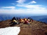 High camp in Illimani (M. Capriles)