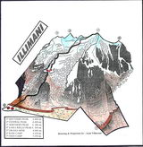 Climbing Illimani (drawing - J. Villarroel)