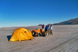 Camping over the Salt Flat of Coipasa (J. Villarroel)